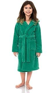 Indulge Customized Plush Hooded Soft Fleece Bathrobe Gift Selections for Girls /& Boys