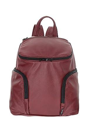 Mochila Roja de Piel Artesanal de Vestir - Mini - RIBAGS: Amazon.es: Equipaje