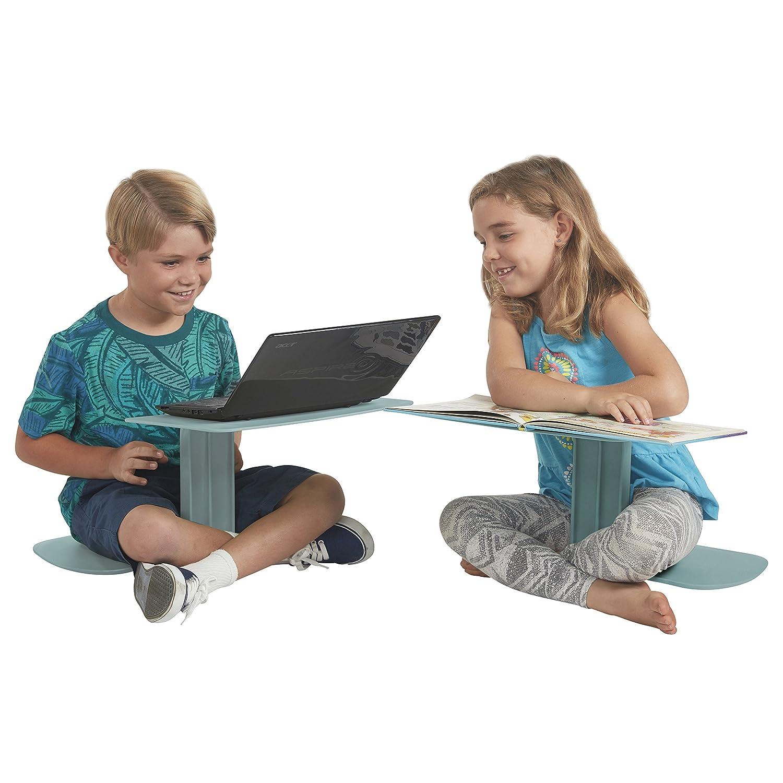 ECR4Kids The Surf Portable Lap Desk/Laptop Stand/Writing Table, Sea Foam