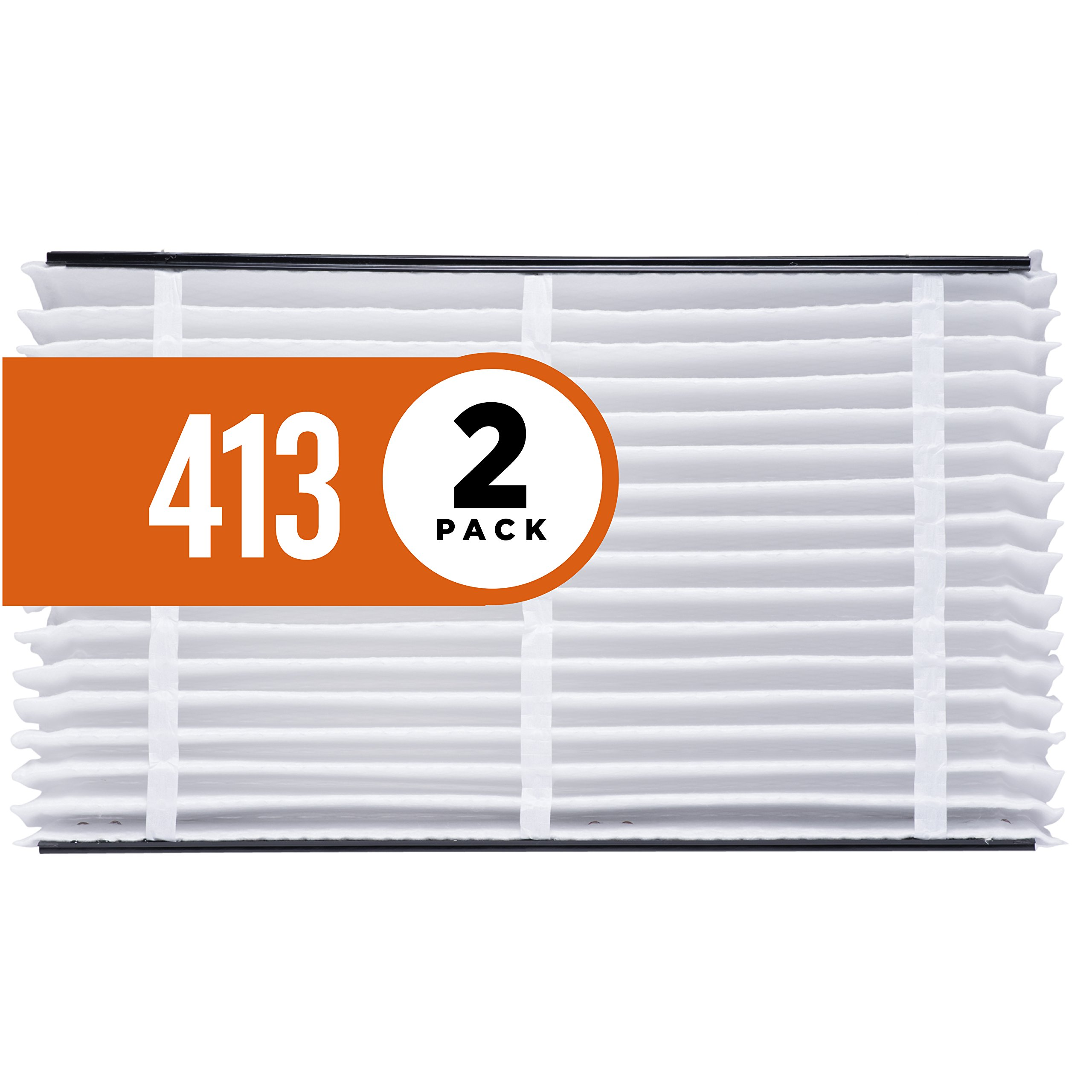 Aprilaire 413 Air Filter for Aprilaire Whole Home Air Purifiers, MERV 13 (Pack of 2)