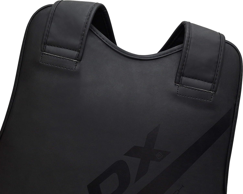RDX Plastron de Boxe Protection Kickboxing Protecteur MMA Corps Armure Karat/é Prot/ège-Poitrine Cuir Peau Garde la Poitrine Arts Martiaux Taekwondo Entrainement