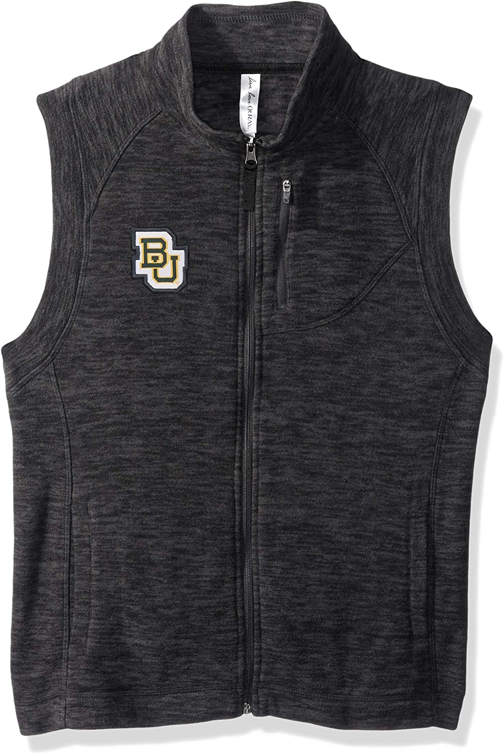 X-Large Charcoal Heather Ouray Sportswear NCAA Baylor Bears Womens Guide Vest