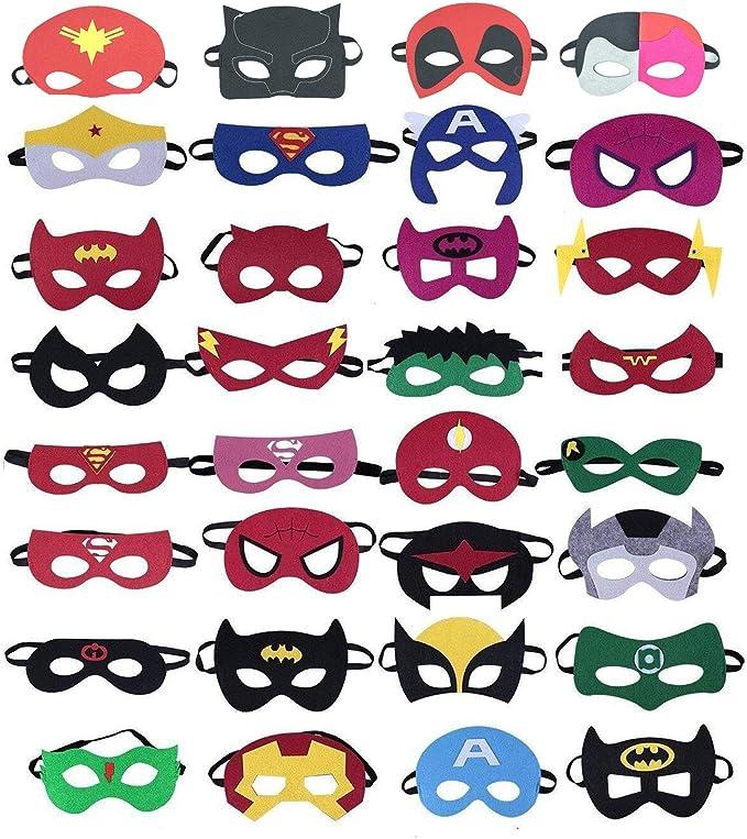 32 Stücke Superhelden Masken Superhero Party Supplies Superhelden Cosplay Masken Party Gefälligkeiten Halbmasken Für Kinder Oder Jungen Im Alter Von 3 Spielzeug