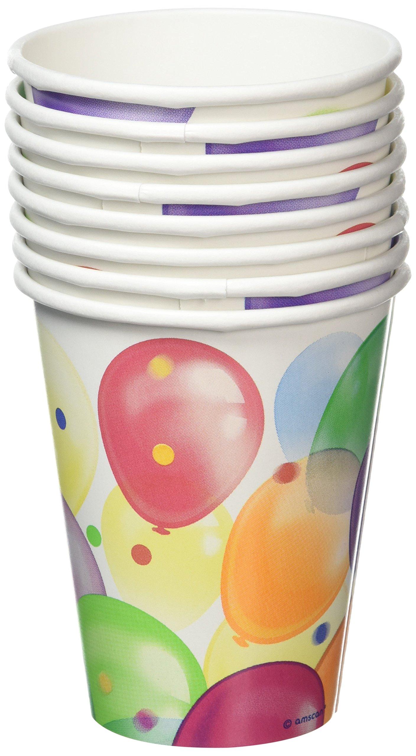 Balloon Fiesta Paper Cups 266ml Pack of 8