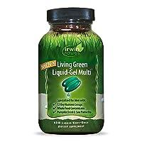 Irwin Naturals Men's Living Green Liquid-Gel Multi - 70 Essential Nutrients, Full-Spectrum...