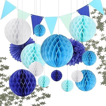 White Paper Honeycomb Ball Garland Decoration