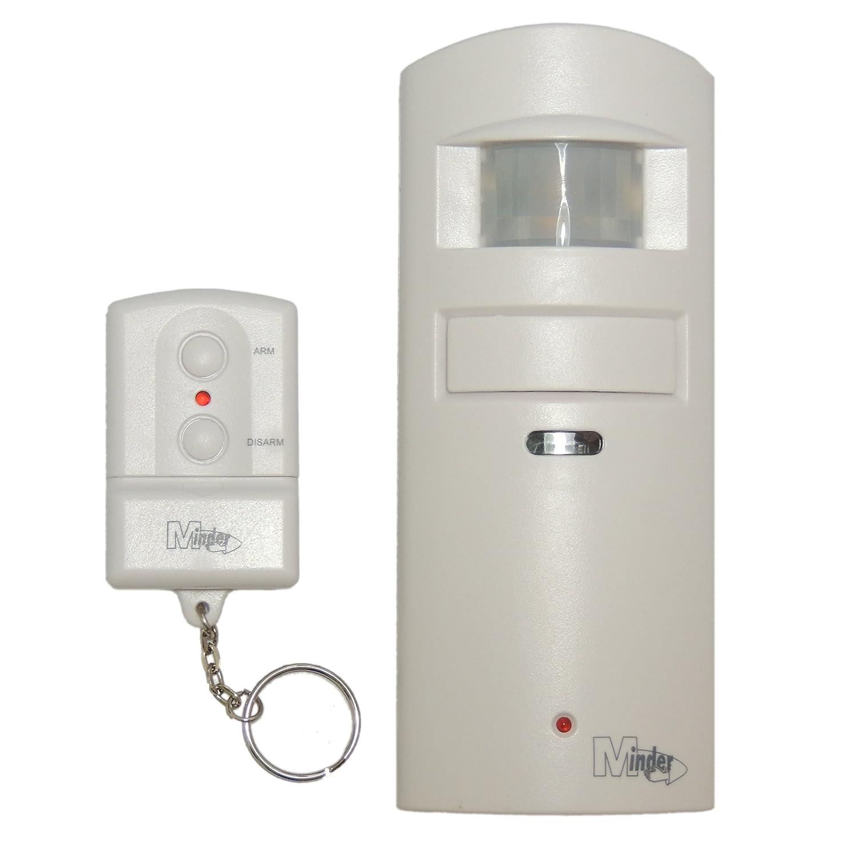 Minder MA30 Kabellos Bewegungsmelder Alarmanlage für Garage und Zuhause mit Fernbedienung mit Batterien