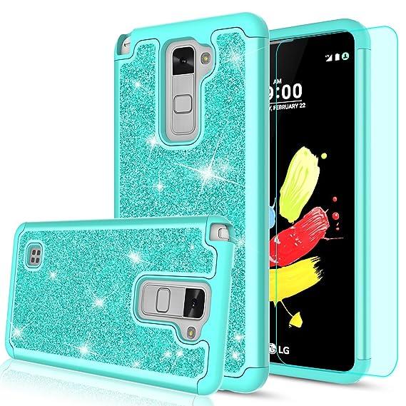 pick up 7a117 351fb LG Stylo 2 Case,LG Stylo 2 Plus Case,LG Stylus 2 / Stylo 2V Glitter Case  with HD Screen Protector for Women Girls,LeYi Heavy Duty Shockproof ...
