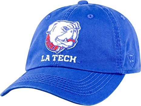 Amazon.com  Top of the World Mens Louisiana Tech Bulldogs Blue Crew ... 9860d0761377