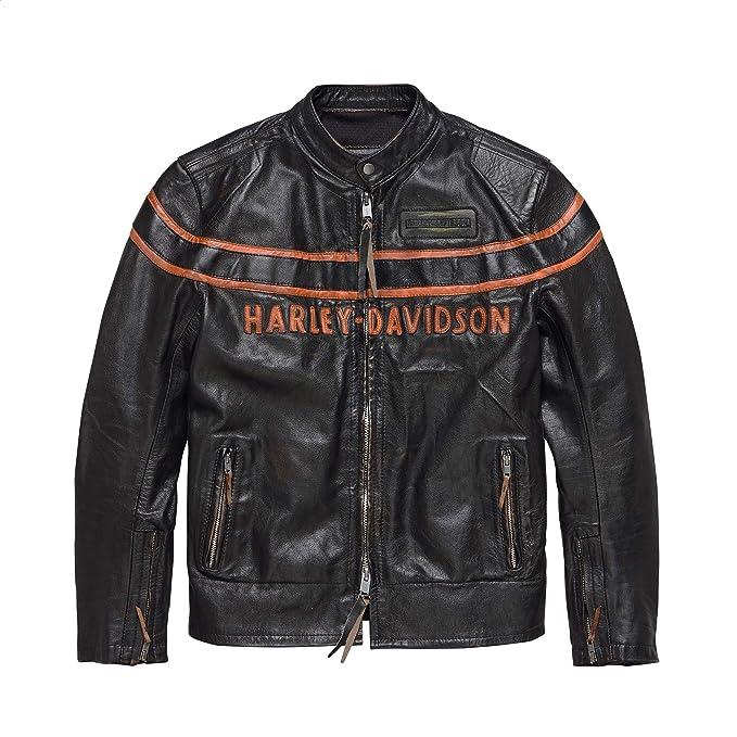 Amazon.com: Harley-Davidson - Chaqueta de piel para hombre ...