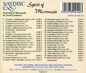 Spirit Of Micronesia (Cantos,Himnos,Danz
