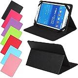 Universal Slim Tasche für Tablet Modelle 7, 8, 9 oder 10 Zoll Größe Schutz Case Hülle Cover (7 / 8 Zoll, Schwarz)