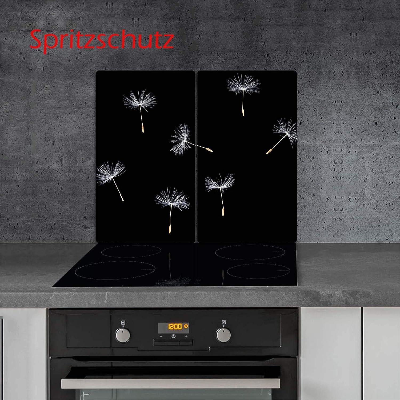 Ceranfeldabdeckung Herdabdeckplatten Spritzschutz Glas Weihnachten 2x30x52 cm