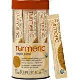 The Republic Of Tea Organic Turmeric Single Sips, 14 Single Servings Of Instant Turmeric Tea