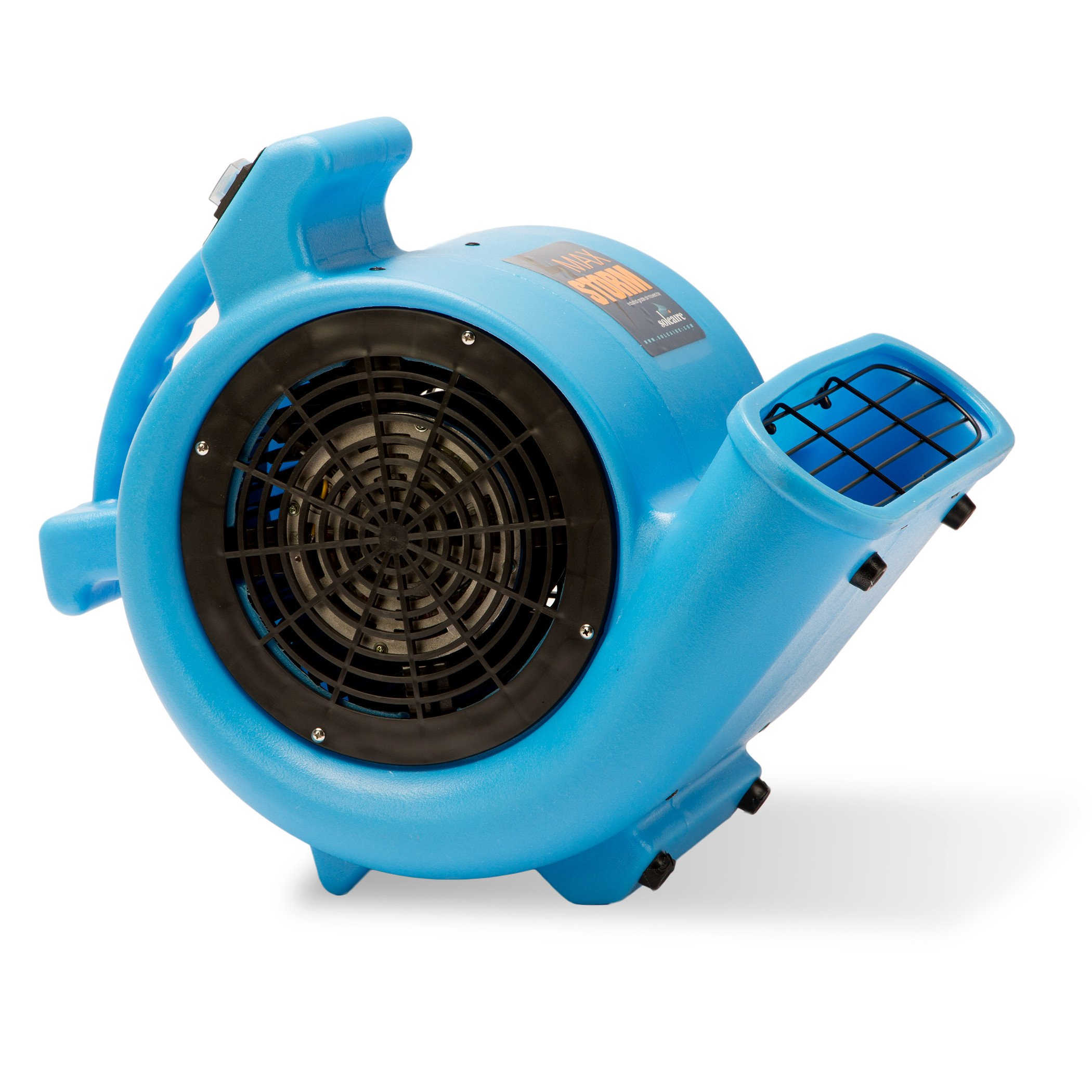 Max Storm 1/2 HP Durable Lightweight Air Mover Carpet Dryer Blower Floor Fan for Pro Janitorial, Blue by Soleaire (Image #3)
