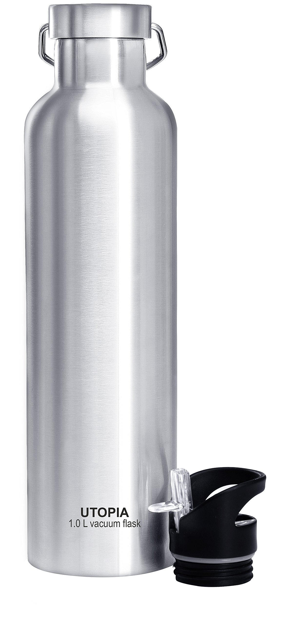 Utopia Home Vacuum Insulated Stainless Steel Water Bottle (1.0L) - Leak Proof - Double Coated Stainless Steel Wall