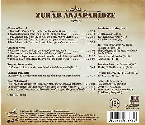 Zurab Anjaparidze Ruggero Leoncavallo Pyotr Il Yich Tchaikovsky