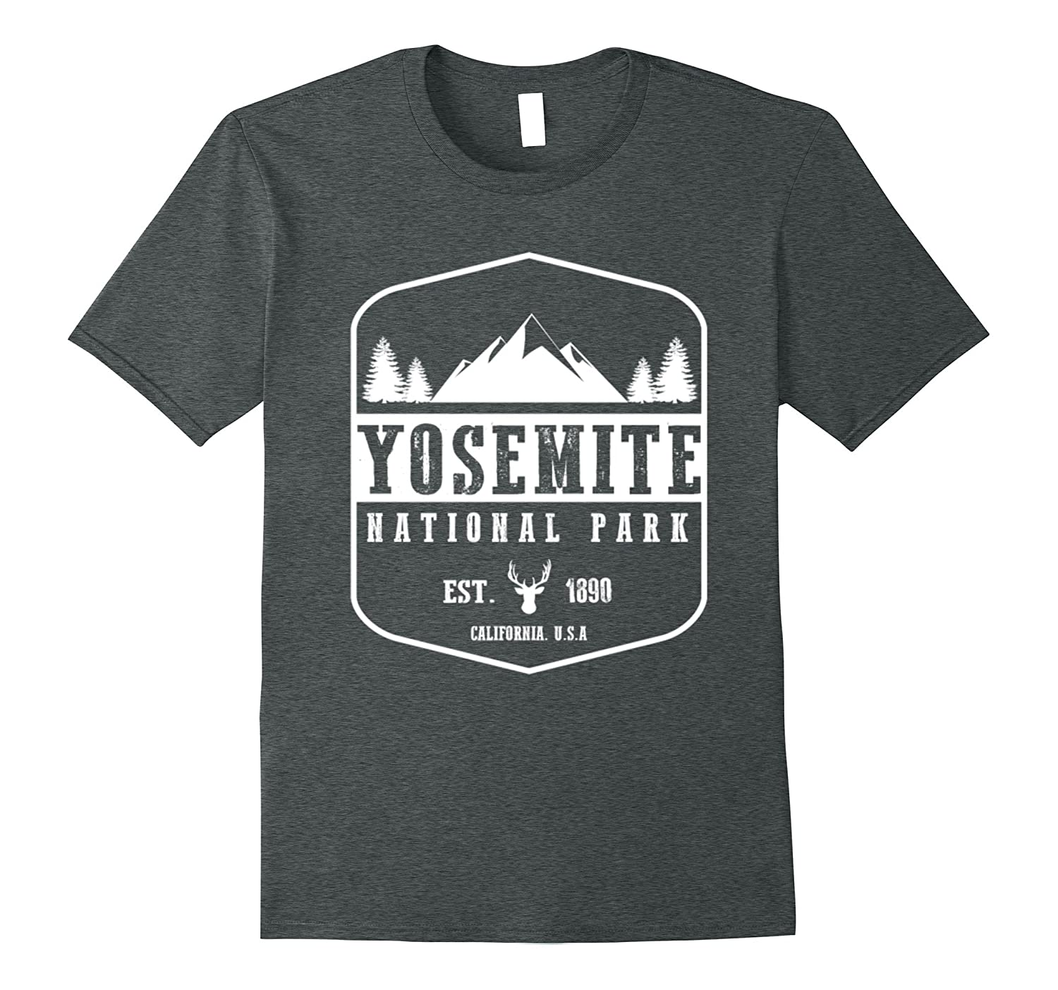 Yosemite National Park Tshirt I Love Hiking Wanderlust-TH