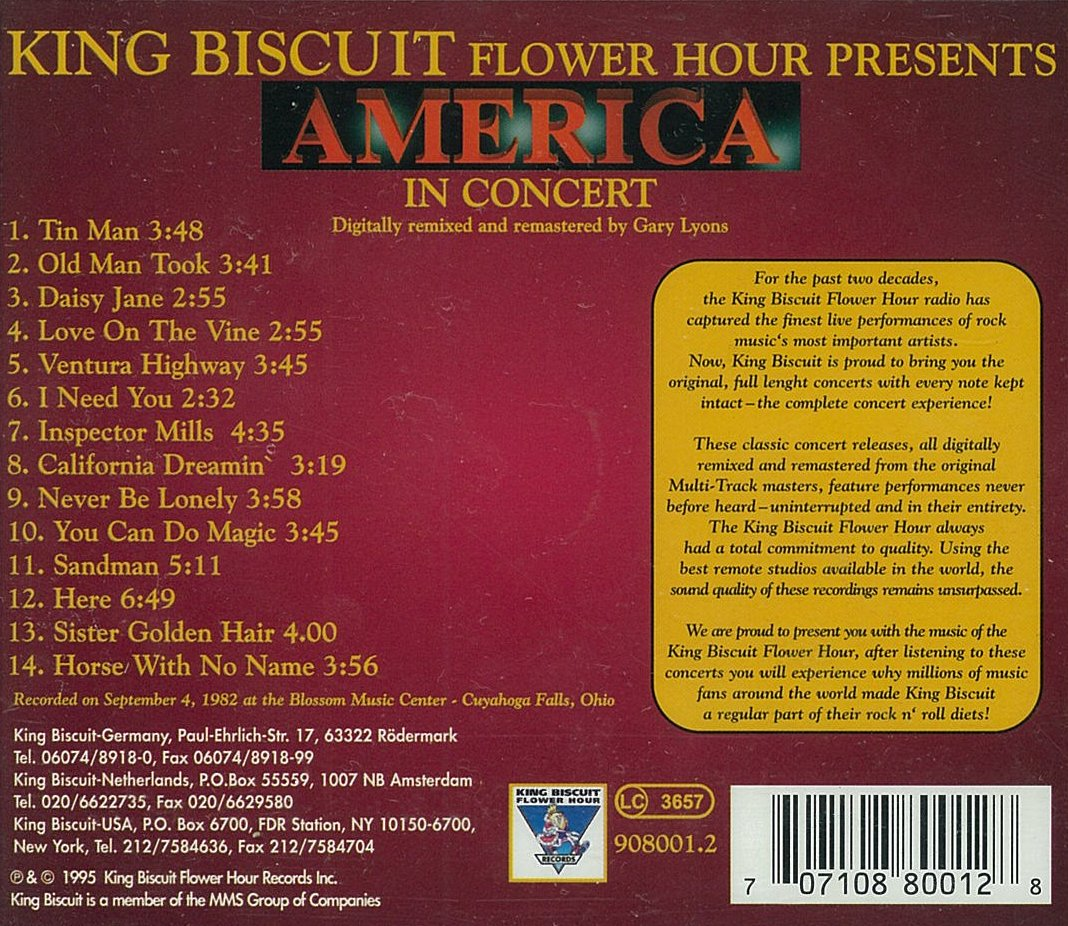King Biscuit Flower Hour Presents America in Concert by Ventura (Image #1)
