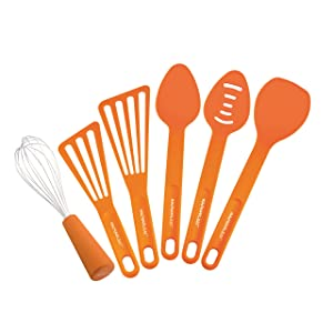 Rachael Ray Tools 6-Piece Tool Set, Orange