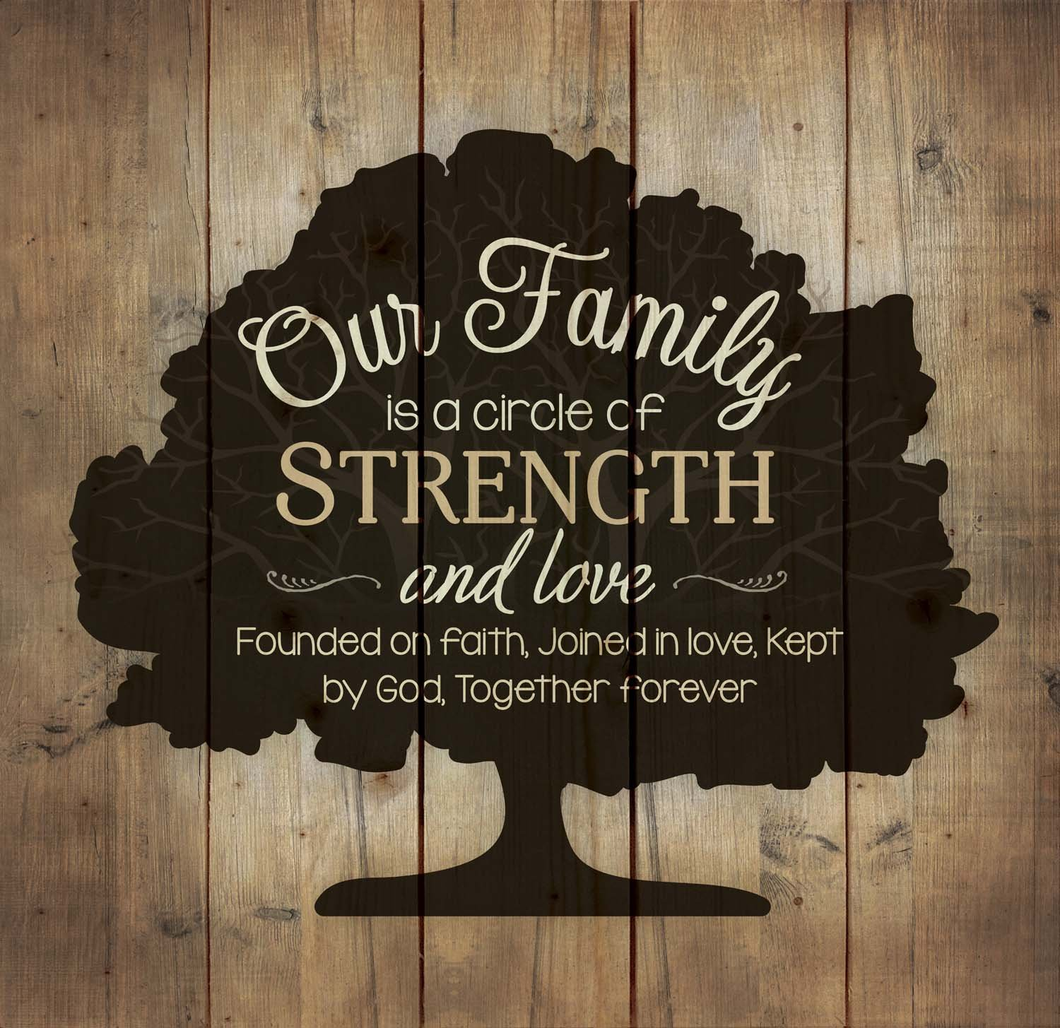 P. Graham Dunn Our Family Tree Circle of Strength Love and Faith 24 x 25 Wood Pallet Wall Art Sign Plaque