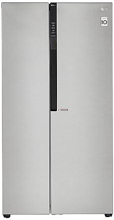 LG 679 L Frost Free Side-by-Side Refrigerator(GC-B247KQDV.ADSQEBN, Graphite steel, Inverter Compressor)