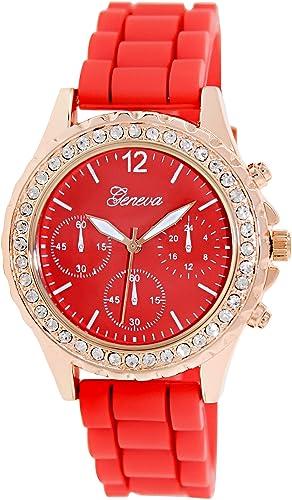 Geneva Platinum 1922.ROSEGOLD.RED Mujeres Relojes