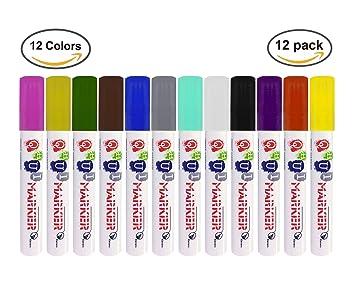 12 Farben Farbe Öl Based Art Marker Pen für Metall Glas Kunststoff