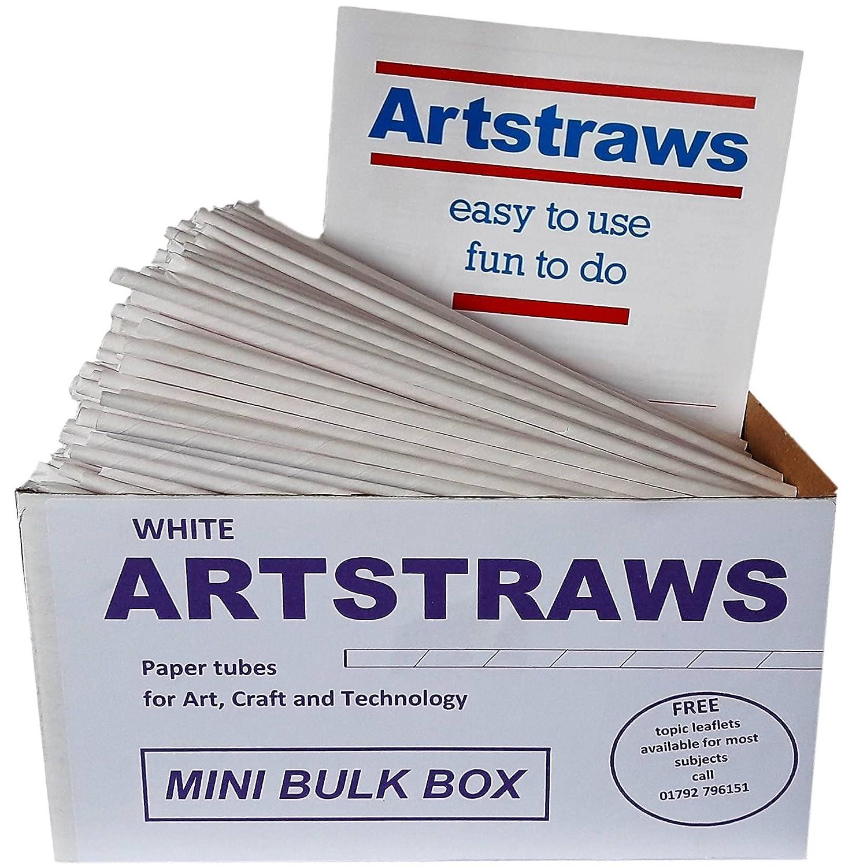 Artstraws White Paper Straws Mini School Bulk Box Pack For Craft New Voltus Sport Mens Plait Crafting Modelling Maths Art Straw Packs Thin Toys Games
