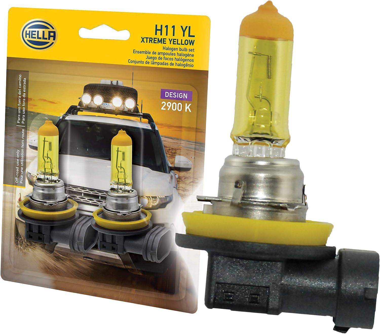2× Yellow H11 Halogen Bulb Lamps Quartz Glass Car Auto Fog Light 12V 55W 3000K