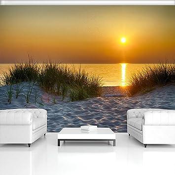Fototapete Strand Sand Sonne Meer Wasser