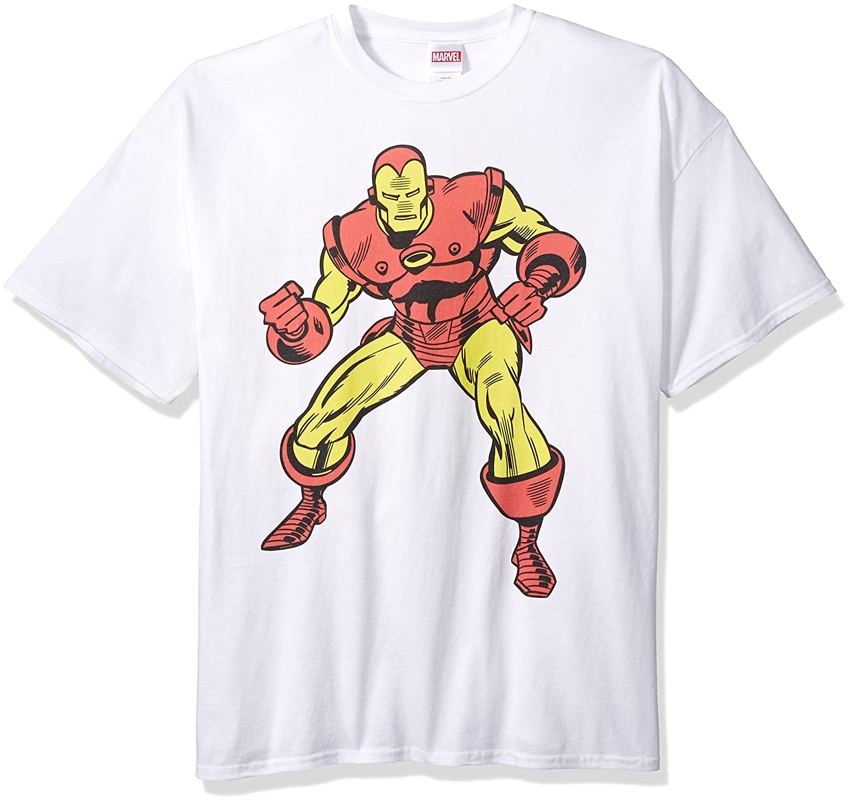 bc90c96cf Amazon.com: Marvel Men's Iron Man T-Shirt: Clothing