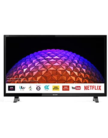 Sharp 2T-C40BG0KO2FB 40 Inch Full HD LED Smart TV with Freeview Play, 3 x HDMI, 2 x USB, Scart, USB Record [Energy Class A+]