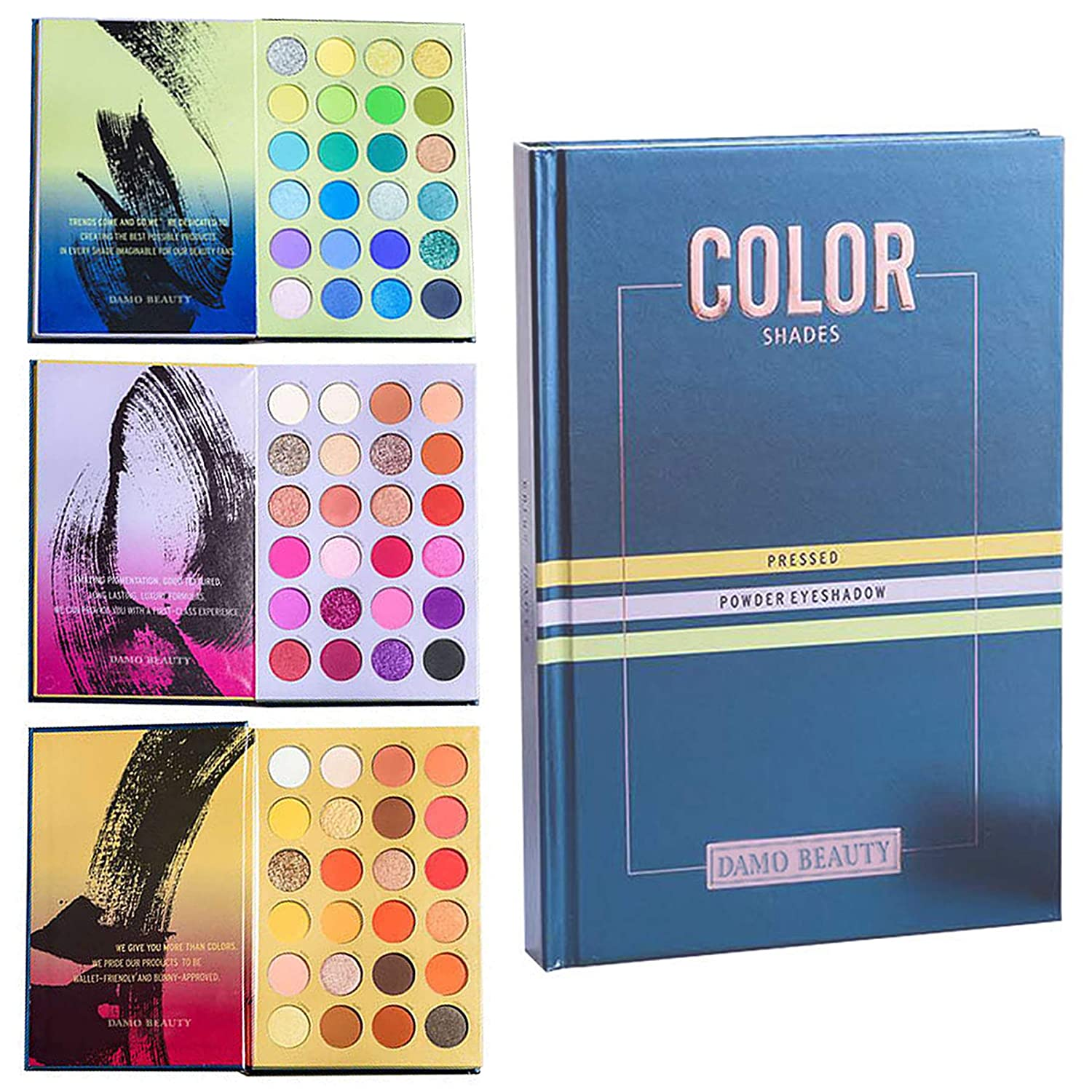 Vtrem 72 Colors Eyeshadow Palette Matte Pearlescent Eye Makeup Palette with 3 Layers Long Lasting Waterproof Eyes Shadow Powder Natural Highly Pigmented Easy to Blend