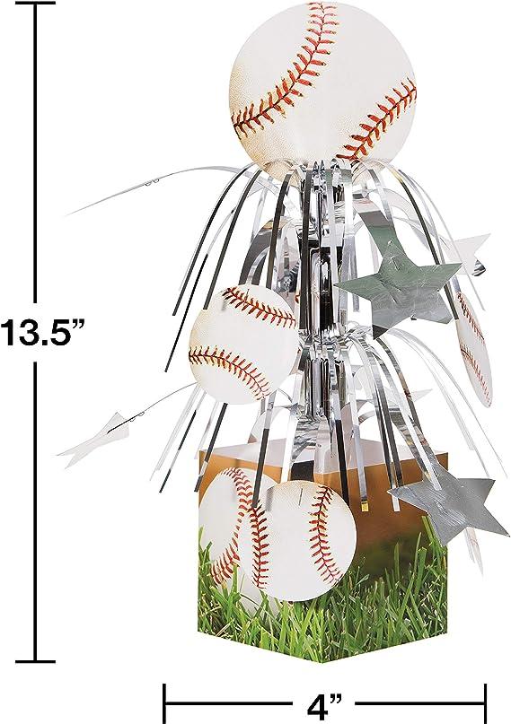 Creative Converting 4 Count Sports Fanatic Baseball Shaped Pick Candles 105764