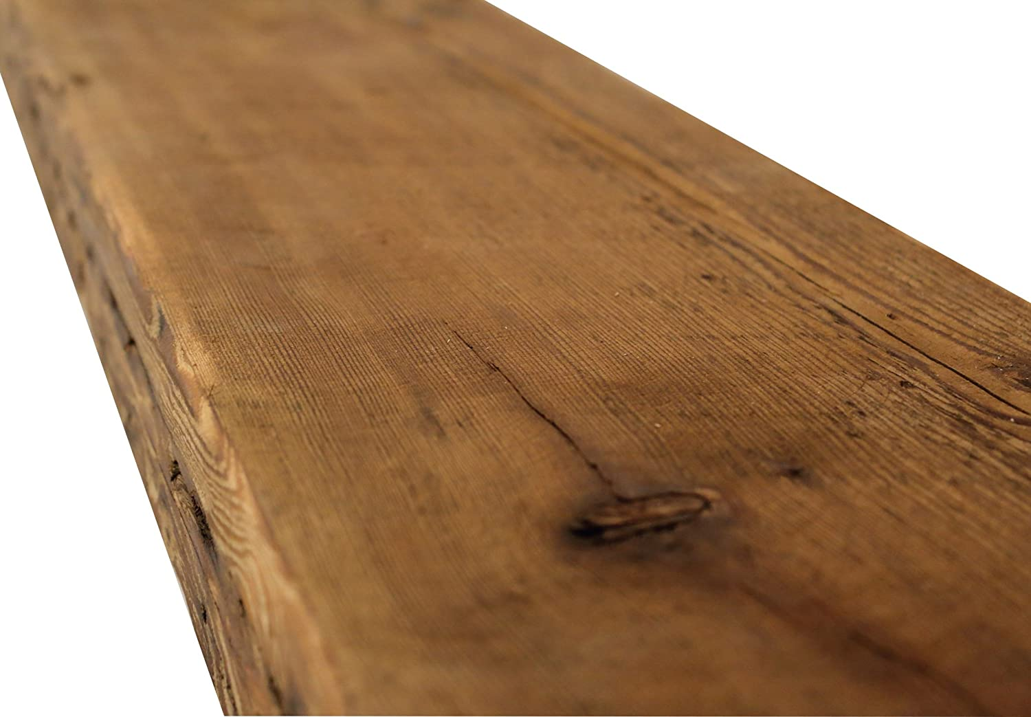 Fireplace Mantel Shelf Reclaimed Barn Wood with Hardware Floating,Solid Modern Timber Craft 12 W x 7 D x 2 3//4 H Rustic