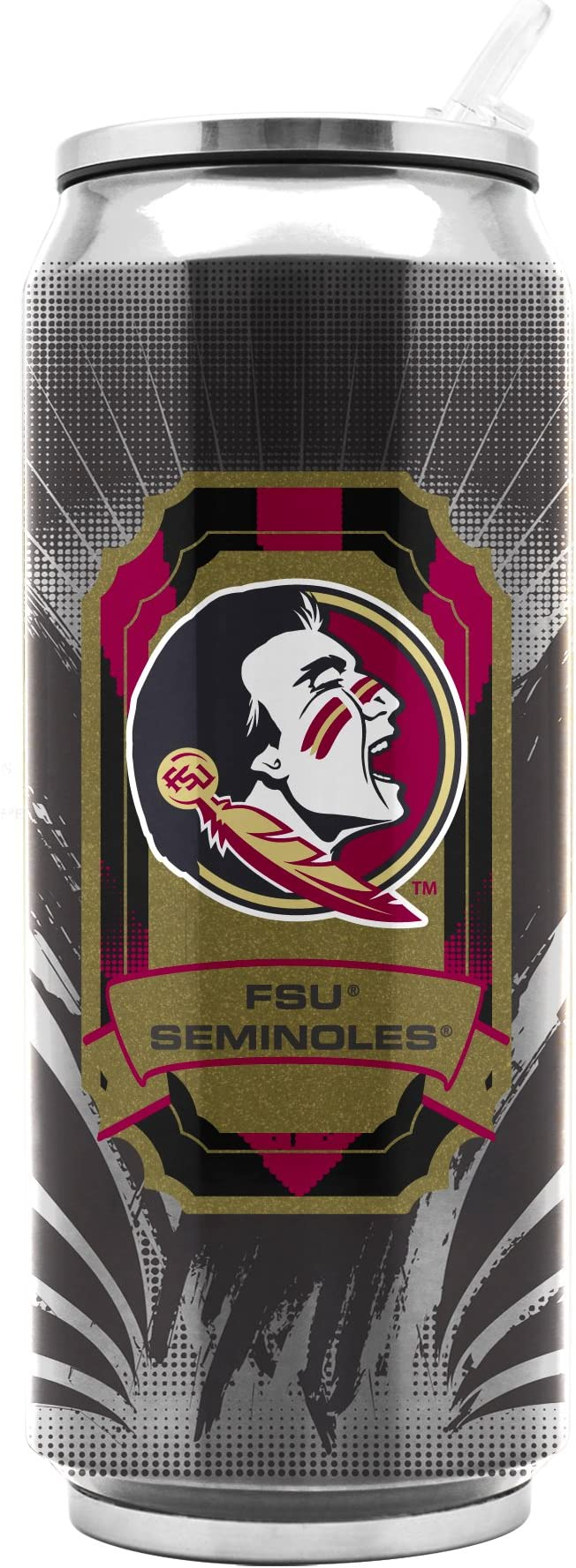 NCAA Florida State Seminoles 16oz Double Wall Stainless Steel Thermocan