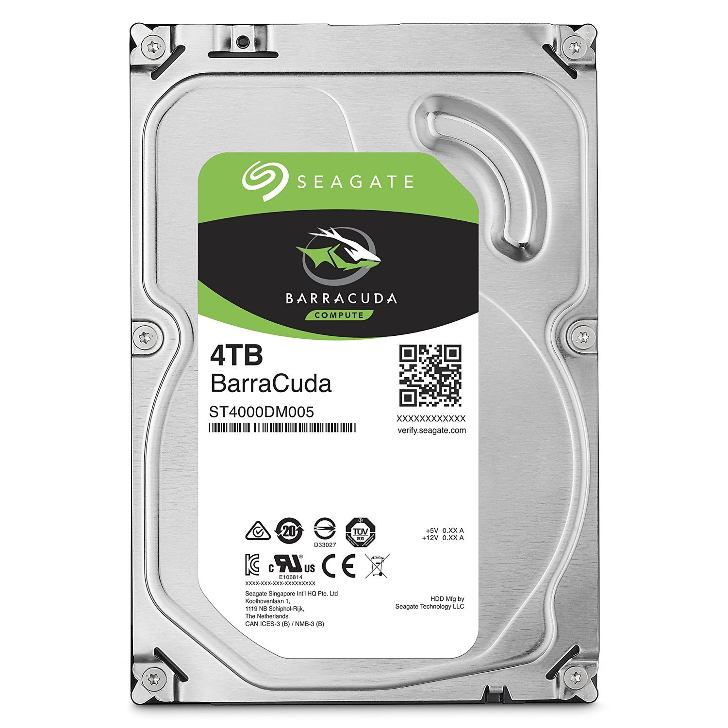 Seagate 4TB BarraCuda SATA 6Gb/s 64MB Cache 3.5-Inch Internal Hard Drive (ST4000DM005) by Seagate