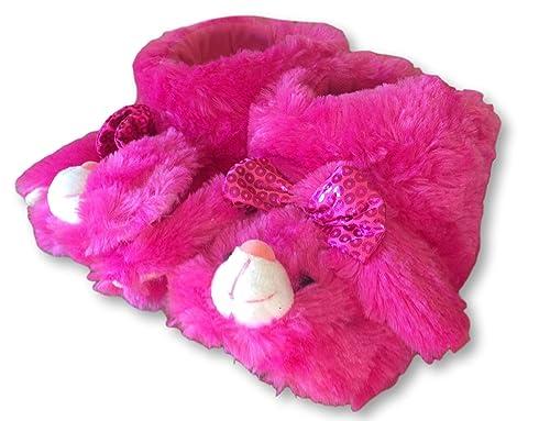 3f9d8d051c23e Niñas Rosa Zapatillas de Estar por casa  Amazon.es  Zapatos y complementos