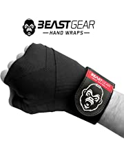 Beast Gear Advanced Boxing Hand Wraps – For Combat Sports, MMA and Martial Arts ★ 4.5 Meter Elasticated Bandages
