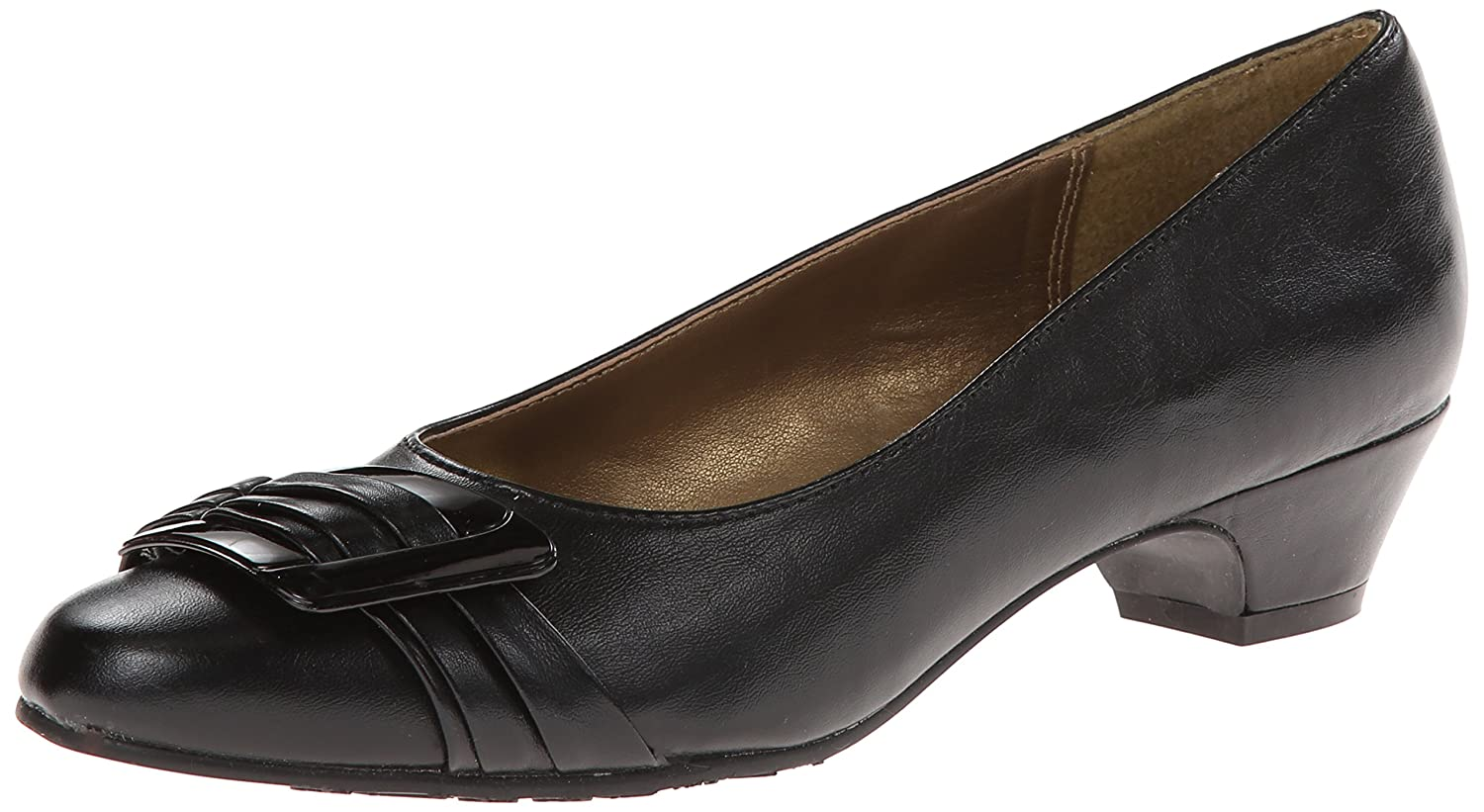 Soft Style by Hush Puppies Women's Pleats Be With You Dress Pump B00596WYXQ 8 N (AA)|Black Vitello