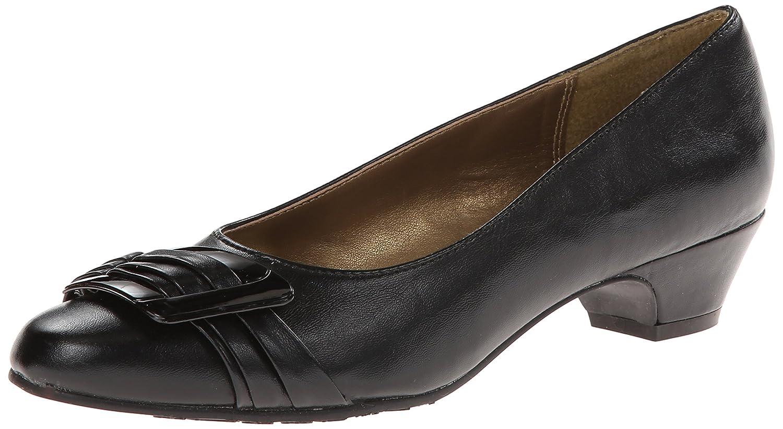 Soft Style by Hush Puppies Women's Pleats Be With You Dress Pump B00596WYXQ 8 N (AA)|Black Vitello