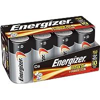 Energizer D Cell Batteries, Max Alkaline D Battery Size, (8 Count)
