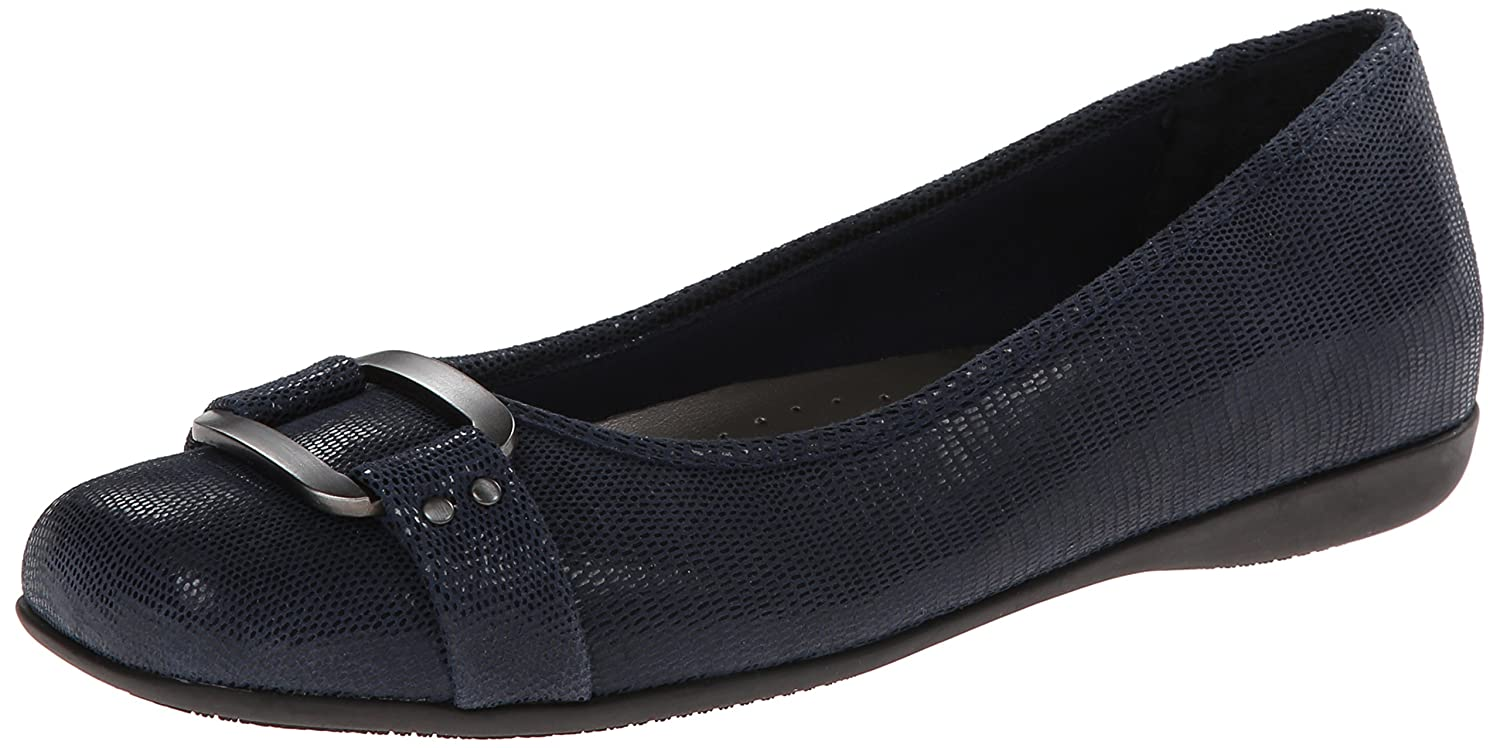 Trotters Women's Sizzle Flat B00HQ1HPI6 6.5 N US|Dark Blue Suede