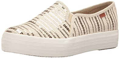 Keds Women s Triple Decker Sequin Stripe Fashion Sneaker   B01M9FJB8A