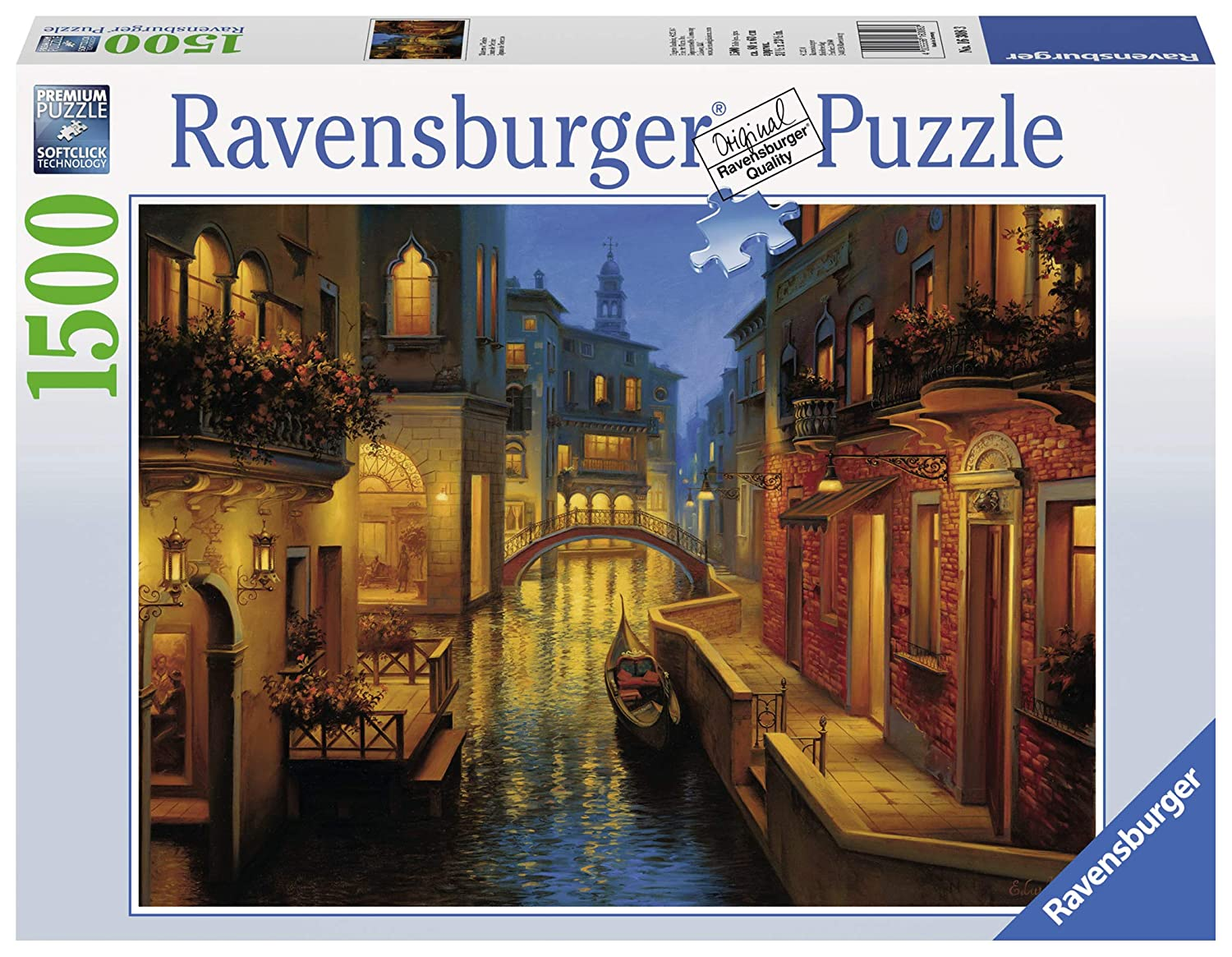 Ravensburger Waters of Venice 1500 Piece Jigsaw Puzzle for Adults – Softclick Technology Means Pieces Fit Together Perfectly