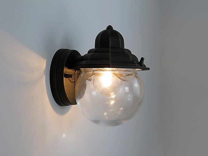 Applique lampada parete per esterno classico lanterna: amazon.it