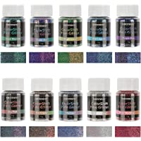 NODDWAY Color Shift Fine Glitter, 110g Colors Extra Fine Glitter for Crafts, Ultra Fine Glitter for Tumbler, Resin…
