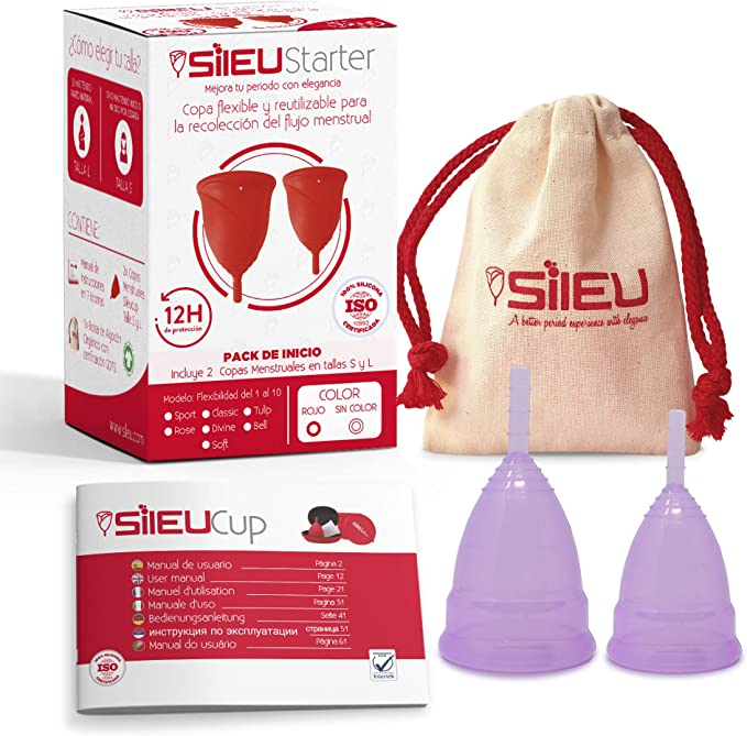 Copa Menstrual Sileu Cup Sport - Copa deportiva para práctica de deportes, pilates, yoga, piscina, baile, gimnasio - Alternativa ecológica y natural a ...