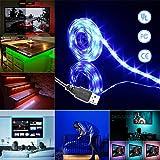 Simfonio Tiras Led 1m 30 Leds IP65 Impermeable 5050 SMD RGB Tira LED Kit Completo con Mini Control y Conexión USB para TV, HDTV, Pantalla LCD, Portátil, Sobremesa, Dormitorio